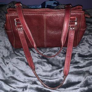 Fossil leather shoulder bag EUC